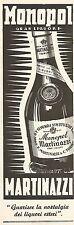 Y2395 Monopol Gran Liquore MARTINAZZI - Pubblicità del 1942 - Old advertising