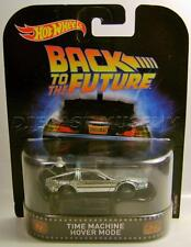 TIME MACHINE HOVER MODE DMC DELOREAN MOVIE CAR RETRO HOT WHEELS DIECAST 2017