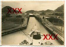 KREUZER KARLSRUHE - orig. Foto, 12,3x17,5cm, Panama-Kanal, Pedro-Miguel, 1932