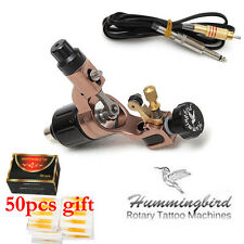 Genuine Hummingbird Rotary Tattoo Machine Gun Swiss Motor with Cord Needle Tips