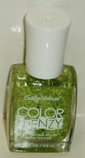1 Sally Hansen COLOR FRENZY TEXTURED Nail Color Nail Polish GREEN MACHINE #370