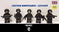 5pc Call of Duty Fantasmas Personalizado Minifigure Set | Swat | Ejército + Gratis Lego ladrillo UK