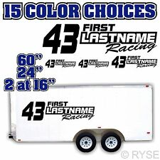 "60"" Custom Name Race Number Trailer Decal MX ATV Motocross Go Kart SX Sprint Car"