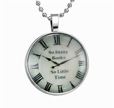 Fashion Punk Style Clock Glow in the Dark Stainless Steel Necklace Pendant NEW