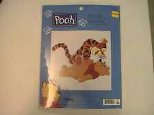 Disney Pooh & Tigger BOUNCE Cross Stitch Kit FREE US Ship  NOS NIP