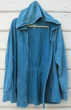 Central Park Aqua Acid Washed Jersey Knit Flyaway Hooded Cardy Sweater Wms 2X