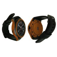 Skinomi Light Wood Skin+Watch Screen Protector for Samsung Gear S3 Frontier