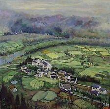 Original Hand-painted canvas oil painting  Flatlands in China