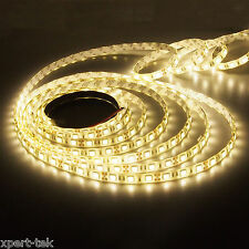 Warm White Waterproof 5050 SMD 300LED 5M 60LED/M Light Strip Lamp Car Flexible