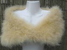 Champagne/Sand Coloured Marabou Feather Shrug/Wrap/Stole - SALE ITEM - REDUCED