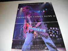 PETER FRAMPTON Rare 1995 2-Piece PROMO DISPLAY AD Oct 7 - Nov 11 TOUR info