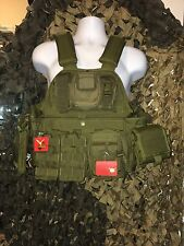 """Level 3 AR500 Certified Steel 10""""x12"""" With OD Rothco Carrier, Molle, Side Plates"""