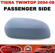 VAUXHALL TIGRA CONVERTIBLE PRIMED WING MIRROR COVER PASSENGER NEAR SIDE CAP CASE