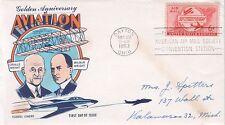 Beau 1er jour AVIATION Frères WRIGHT 1er vol motorisé 1903/1953 Dayton USA Rare
