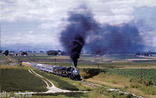 Great Western steam locomotive #90 railroad train postcard