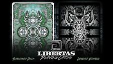 Libertas 2 Deck Set Rare Scientific Limited Custom Playing Cards Only 250 each