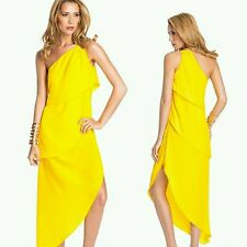 GUESS by Marciano yellow Baylyn One-Shoulder Dress size XS