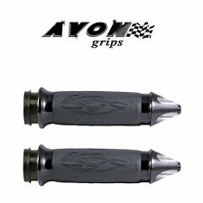 Avon Black Tribal Motorcycle Grips Cruiser Chopper Bobber Harley Davidson