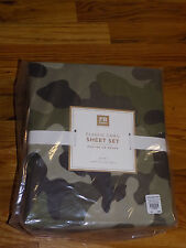 New Pottery Barn Teen Classic Camo Queen Sheet Set Olive