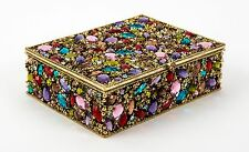 Olivia Riegel Dominique Swarovski crystals multi gems Jewelry Tresure Box