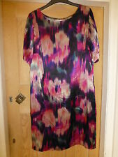 BNWT COLLECTION @ JOHN LEWIS LINED DRESS PINKS MIX SHORT SLEEVE SIZE 14