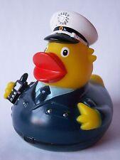 Badeente Quietscheente Polizist Polizei Ente mit Uniform und Funkgerät
