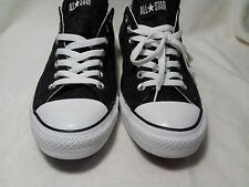Converse All Star Black & Grey Zig Zag Unisex Shoes - Size 8.5M / 10.5W