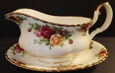 Royal Albert Old Country Roses Gravy Boat & Stand Brand New with tag 2 piece
