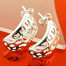 A102 GENUINE REAL 925 STERLING SILVER S/F DROP STUD ANTIQUE DESIGN EARRINGS