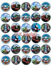 30 X  thomas the tank engine Cup Cake Toppers On Edible Wafer/Rice Paper
