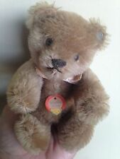 "Vintage 6"" STEIFF MOHAIR JOINTED TEDDY BEAR TOY ANIMAL 1950s CHEST TAG & BUTTON"