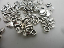 50 Tibetan Silver 4 Leaf Clover Charms~15x10mm~Crafting, hobby scrapbooking