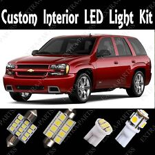 15 x Xenon White LED Lights Interior Package Kit For 2002-2009 Chevy Trailblazer