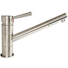 Küchenarmatur Wasserhahn Küche Spültisch Armatur Edelstahl Spültischbatterie neu