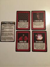 Q-CONTINUUM CARDS + EVASIVE ACTION TEMPLATE Star Trek Attack Wing OP