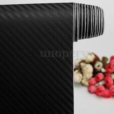 2M x 600MM 3D Carbon Fiber Vinyl Wrap Film Car/Home/Glass Bubble Free Black DIY