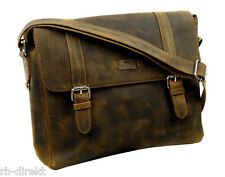 LandLeder  1004 -Old School-Messenger Bag  Postbag Unisex vintage-Brown