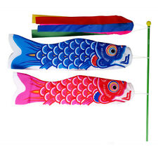 Japanese Koinobori Koi Nobori NYLON Carp Fish Streamers Windsocks Kit Flag Set