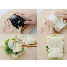 DIY 4in1 Set Baby Panda Mold Rice Onigiri Shaper Dry Roasted Seaweed Cutter