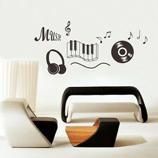 Music Musical Notation Wall Sticker Removable Vinyl Decal  Mural Art Room Decor