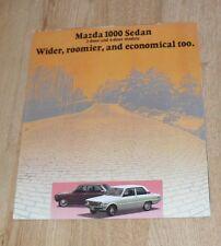 Mazda 1000 Brochure 1973 - Mazda 1000 Saloon 2 & 4 Door