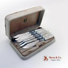 Fruit Knife Set Sterling Mother Of Pearl Silver Plate American Cutlery Co 1900