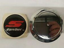 DW 00133-1 Sendel Wheel chrome center cap  black and red center sticker