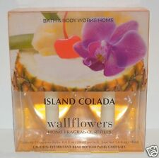 2 BATH & BODY WORKS ISLAND COLADA WALLFLOWER FRAGRANCE REFILL BULB PLUG IN NEW