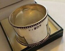 Heavy Big Solid Silver Full Hallmarked Napkin Ring - Serviette Ring