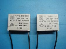 (2) VISHAY ERO F1774-510-2000 1uF X2 275V MKT RADIAL SUPPRESSION CAPACITOR