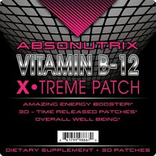 Absonutrix Vitamin B12 Energy Patch 30 Time Released Patches increase in energy
