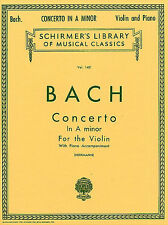 Bach Violin Concerto No.1 In A Minor BWV1041 Learn to Play Piano Music Book