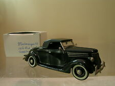 MINIMARQUE 43 No.51 FORD V8 ROADSTER CLOSED 1936 BLACK HANDBUILT SCALE 1:43