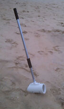WHITE WATERPROOF BEACH HUNTER SAND SCOOP USE WITH METAL DETECTOR FIND BOUNTY